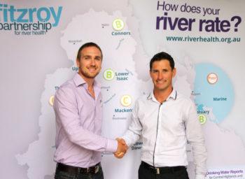 Matt Eyles Celebrating the Release of a Comprehensive River Health Report | CQG Consulting